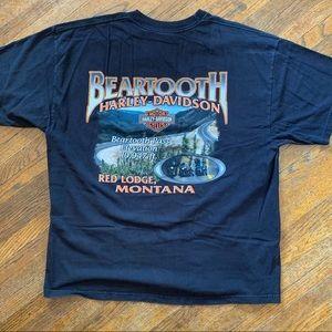 Harley-Davidson Beartooth Red Lodge MT Shirt Sz XL